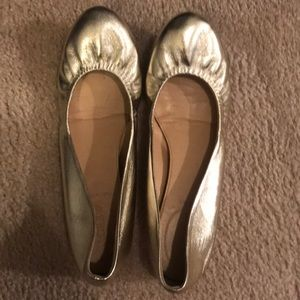 J. Crew Gold Metallic Flats